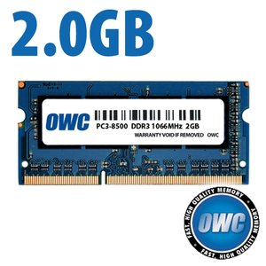 2.0GB PC-8500 DDR3 1066MHz SO-DIMM 204 Pin Memory Upgrade Module