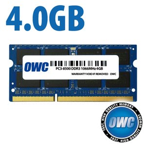 4.0GB PC-8500 DDR3 1066MHz SO-DIMM 204 Pin SO-DIMM Memory Upgrade Module PC3-8500