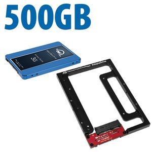 DIY Kit: NewerTech AdaptaDrive + 500GB OWC Electra 3G Solid-State Drive Bundle.