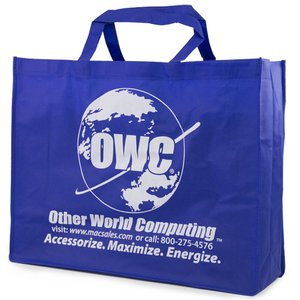 OWC Blue Reusable Tote - Great for Carrying anything from Tech Gear to Groceries
