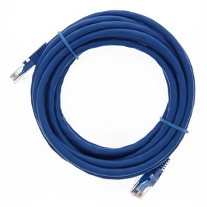"4.2 Meter (168"") Ethernet Category 6 Enhanced RJ45 Network Patch Cable. Blue"