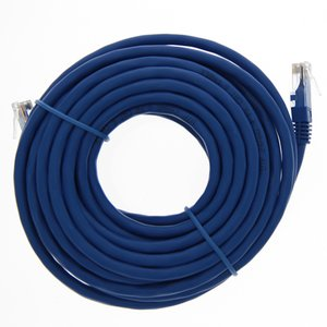 "7.6 Meter (300"") Ethernet Category 6 Enhanced RJ45 Network Patch Cable. Blue"