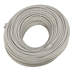 100 Meter (328') Ethernet Category 7 Enhanced RJ45 Network Patch Cable. Grey