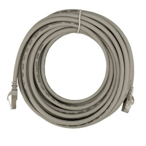 "7.6 Meter (300"") Ethernet Category 7 Enhanced RJ45 Network Patch Cable (10Gb/s) - Gray"