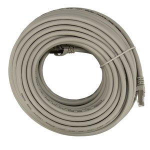 25 Meter (82') Ethernet Category 7 Enhanced RJ45 Network Patch Cable. Grey