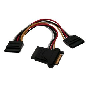 7-inch Serial ATA (SATA) HD Power Adapter Y-Cable: 3 way SATA power splitter adapter.