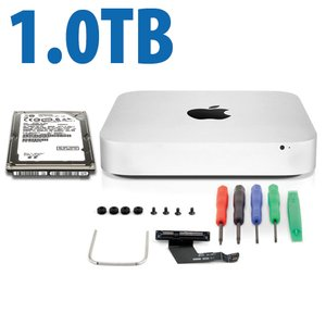 DIY Kit: Data Doubler + 1.0TB Toshiba Hard Drive Bundle for Mac mini 2011 and 2012 models.