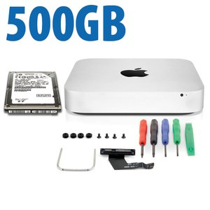 DIY Kit: Data Doubler + 500GB HGST Hard Drive Bundle for Mac mini 2011 and 2012 models.