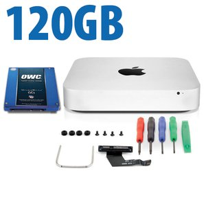 DIY Kit: Data Doubler + 120GB Mercury Electra 6G SSD Bundle for Mac mini 2011 and 2012 models.