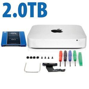 DIY Kit: Data Doubler + 2.0TB Mercury Electra 6G SSD Bundle for Mac mini 2011 and 2012 models.