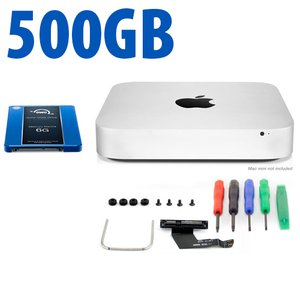 DIY Kit: Data Doubler + 500GB Mercury Electra 6G SSD Bundle for Mac mini 2011 and 2012 models.
