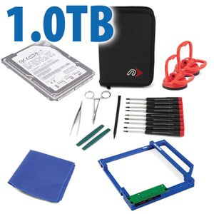 DIY Kit: Data Doubler + 1.0TB Seagate BarraCuda 7200RPM Drive + custom iMac Toolkit.