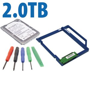 DIY Kit: Data Doubler + 2.0TB 5400RPM 9.5mm Hard Drive Bundle + 5 Piece Toolkit.