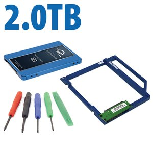 DIY Kit: Data Doubler + 2.0TB OWC Mercury Electra MAX 6G SSD Drive Bundle + 5 Piece Toolkit.