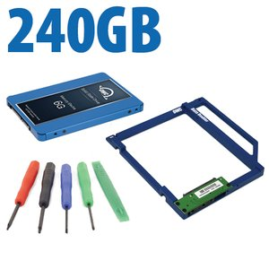 DIY Kit: Data Doubler + 240GB OWC Mercury Electra 6G SSD Drive Bundle + 5 Piece Toolkit.