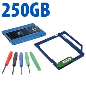 DIY Kit: Data Doubler + 250GB OWC Mercury Electra 6G SSD Drive Bundle + 5 Piece Toolkit.
