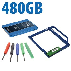 DIY Kit: Data Doubler + 480GB OWC Mercury Electra 6G SSD Drive Bundle + 5 Piece Toolkit.
