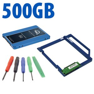 DIY Kit: Data Doubler + 500GB OWC Mercury Electra 6G SSD Drive Bundle + 5 Piece Toolkit.