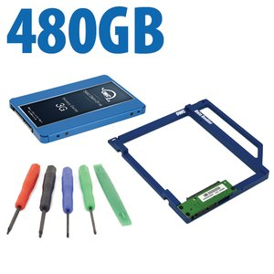 DIY Kit: Data Doubler + 480GB OWC Mercury Electra 3G SSD Drive Bundle + 5 Piece Toolkit.