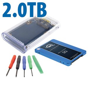 "DIY KIT: OWC On-the-Go FW800/USB 3.0 2.5"" Enclosure + 2.0TB Mercury Electra 3G SSD"