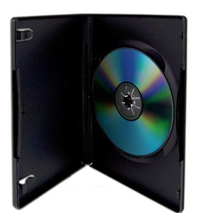 1 Black Single Disc Case for CD/DVD Media - Package your DVD and CD projects like the studios do!