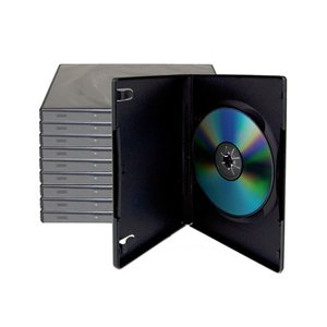 10 Black Single Disc Cases for CD/DVD Media - Package your DVD and CD projects like the studios do!