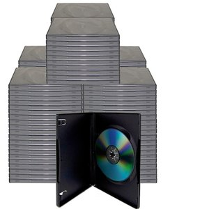 100 Black Single Disc Cases for CD/DVD Media - Package your DVD and CD projects like the studios do!