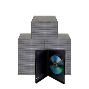 50 Black Single Disc Cases for CD/DVD Media - Package your DVD and CD projects like the studios do!