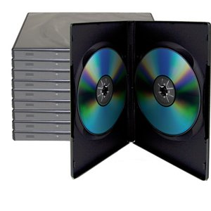 10 Black Dual Disc Cases for CD/DVD Media - Package your DVD and CD projects like the studios do!