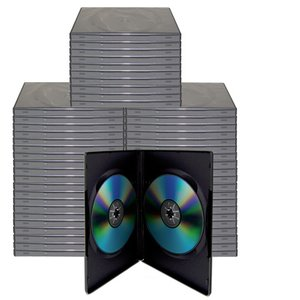 50 Black Dual Disc Cases for CD/DVD Media - Package your DVD and CD projects like the studios do!