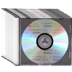OWC 16X DVD-R 4.7GB Blank DVD Media - 10 Pack in Slimline Jewel Cases