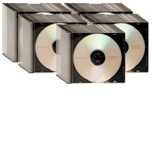 OWC 16X DVD-R 4.7GB Blank DVD Media - 50 Pack in Slimline Jewel Cases.