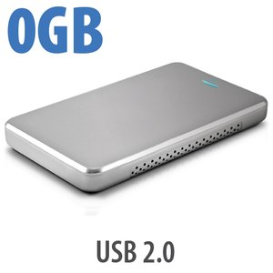 "OWC Express Portable Bus-Powered USB 2.0 Enclosure for 2.5"" SATA Notebook HDDs - Sleek Silver"