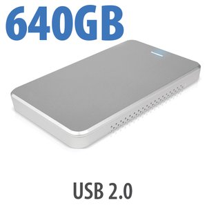 640GB OWC Express USB 2.0 Portable External Drive - Silver