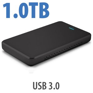 1.0TB OWC Express USB 3.0 Portable External Drive - Black