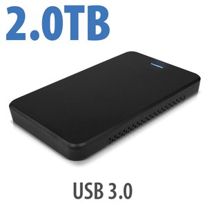 2.0TB OWC Express USB 3.0 Portable External Drive - Black