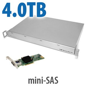 4.0TB OWC Mercury Rack Pro + 2-Port Jupiter Mini-SAS PCIe HBA