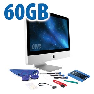 "DIY Kit for 2011 21.5"" iMac's internal SSD bay: 60GB OWC Mercury Electra 6G SSD."