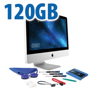 "DIY Kit for 2011 21.5"" iMac's internal SSD bay: 120GB OWC Mercury Electra 6G SSD."