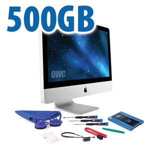 "DIY Kit for 2011 21.5"" iMac's internal SSD bay: 500GB OWC Mercury Electra 6G SSD"