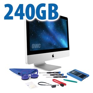 "DIY Kit for 2011 21.5"" iMac's internal SSD bay: 240GB OWC Mercury Extreme Pro 6G SSD."