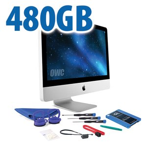 "DIY Kit for 2011 21.5"" iMac's internal SSD bay: 480GB OWC Mercury Extreme Pro 6G SSD."