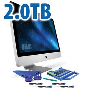 "DIY Kit for 2009 - 2011 27"" iMac optical bay: 2.0TB OWC Mercury Extreme Pro 6G SSD and Data Doubler."