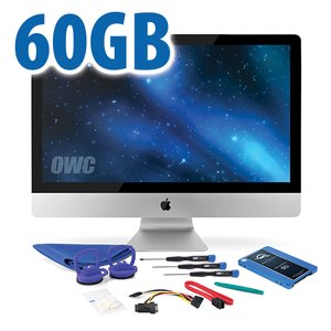 "DIY Kit for 2010 27"" iMac's internal SSD bay: 60GB OWC Mercury Electra 6G SSD."