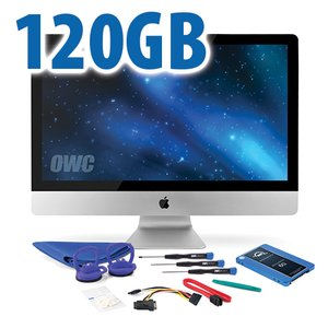 "DIY Kit for 2010 27"" iMac's internal SSD bay: 120GB OWC Mercury Electra 6G SSD."