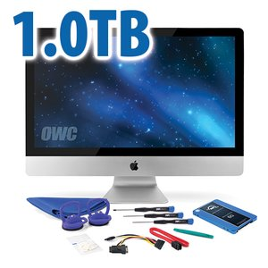 "DIY Kit for 2010 27"" iMac's internal SSD bay: 1.0TB OWC Mercury Electra 6G SSD."