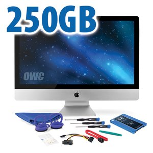 "DIY Kit for 2010 27"" iMac's internal SSD bay: 250GB OWC Mercury Electra 6G SSD."