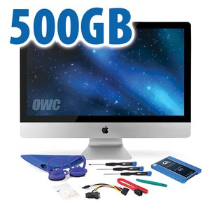 "DIY Kit for 2010 27"" iMac's internal SSD bay: 500GB OWC Mercury Electra 6G SSD."