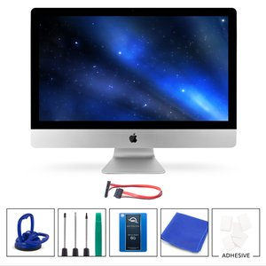 "DIY Kit for 2011 27"" iMac's internal SSD bay: 500GB OWC Mercury Electra 6G SSD."