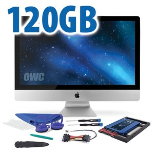 "DIY Kit for 2012 or later 27"" iMac's factory HDD: 120GB OWC Mercury Electra 6G SSD."